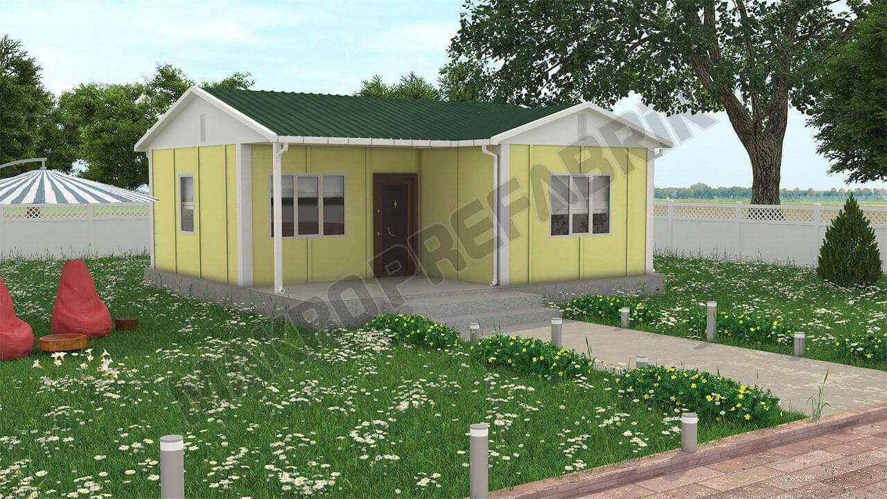 Prefabrik Ev 49 m² Tasarımı