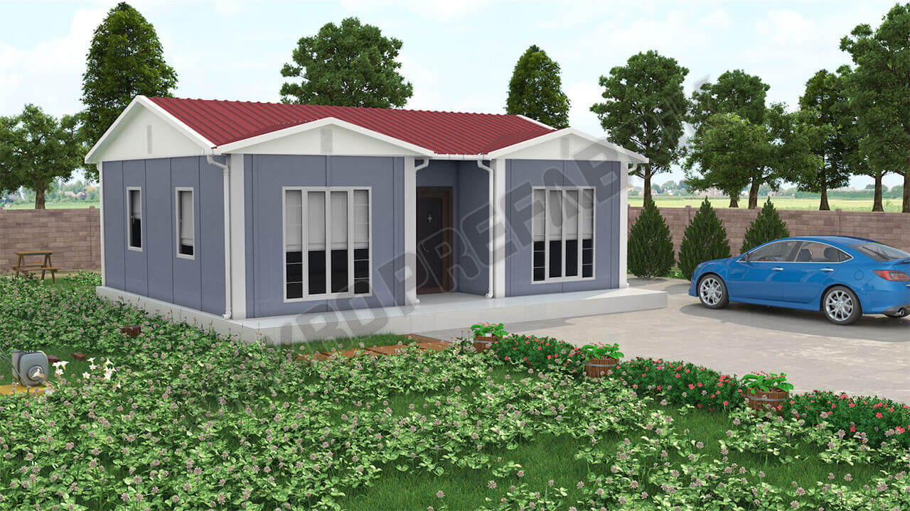 Prefabrik Ev 52 m² Tasarımı