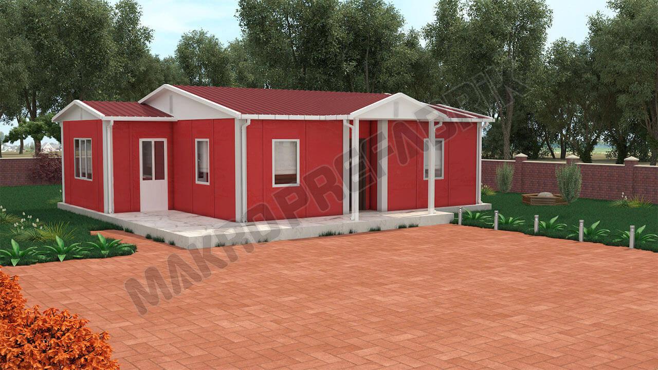 Prefabrik Ev 72 m² Tasarımı