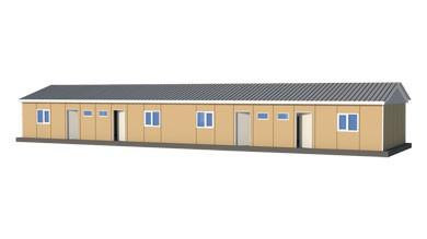 Prefabrik Acil Afet Binası 166 m²